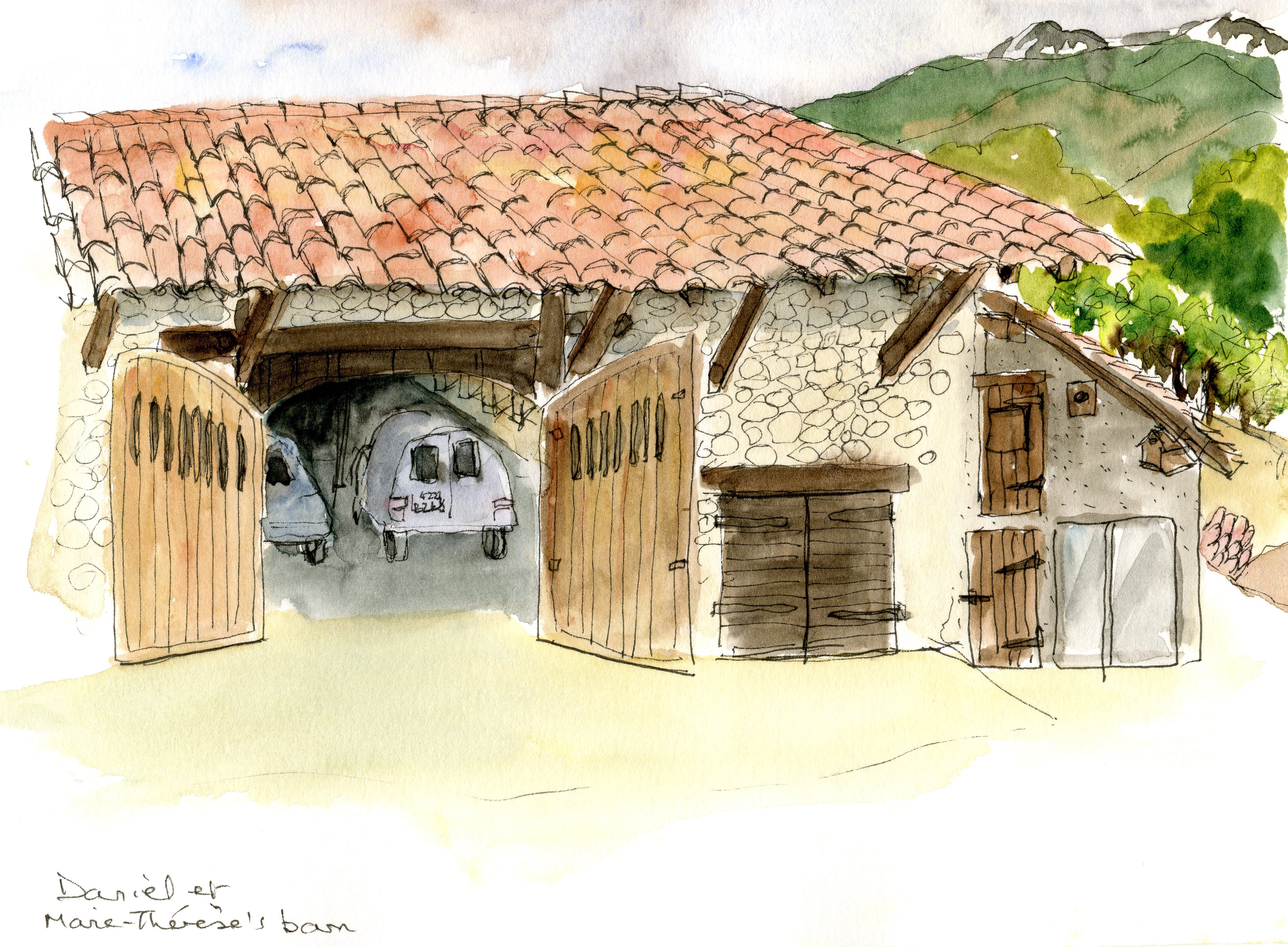 M-T's barn, France
