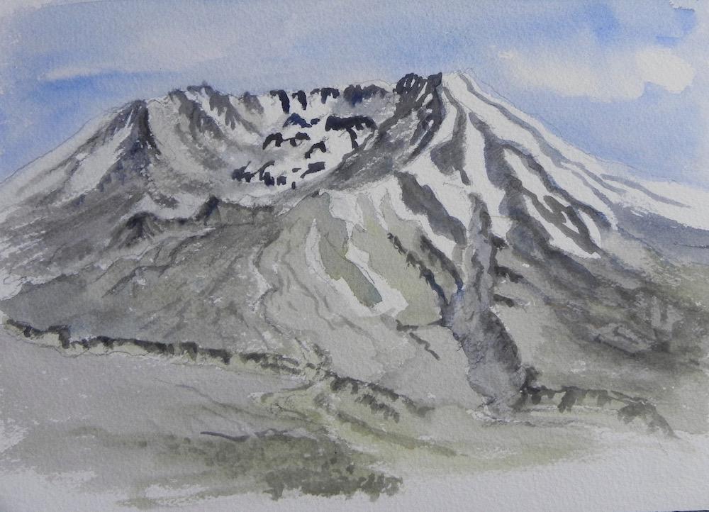 Mt St Helens sketch