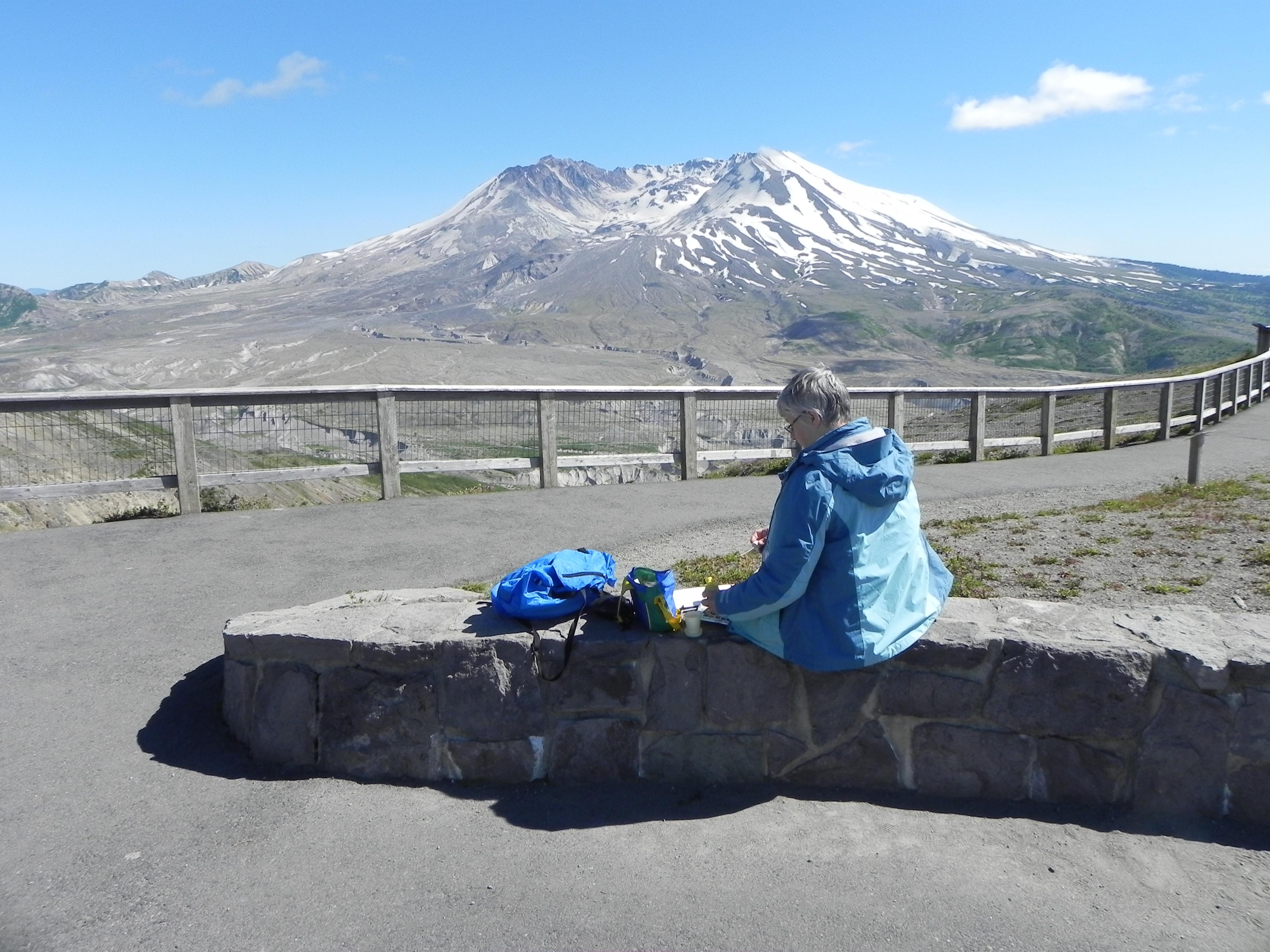 Sketching Mt St Helens
