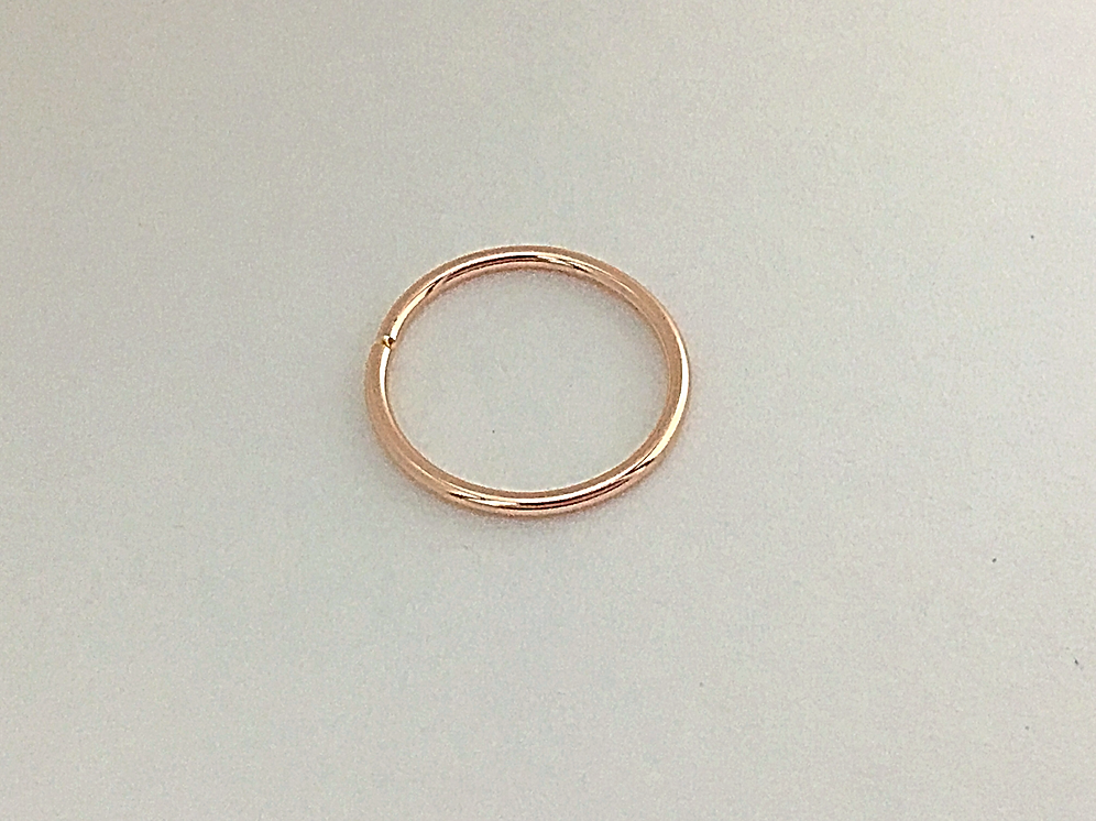 14kt Solid Gold 18 Gauge Daith Septum Nose Ring Ear Piercing Ring Seamless Hoop Unbridledessence Com
