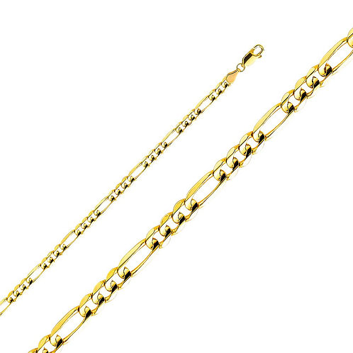 14k Yellow Gold 4.5-mm Figaro Chain Necklace
