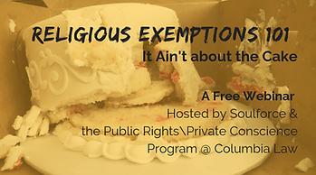 religious exemptions 101 webinar - ruine
