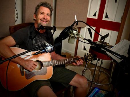 Tom Pakele in the studio this week