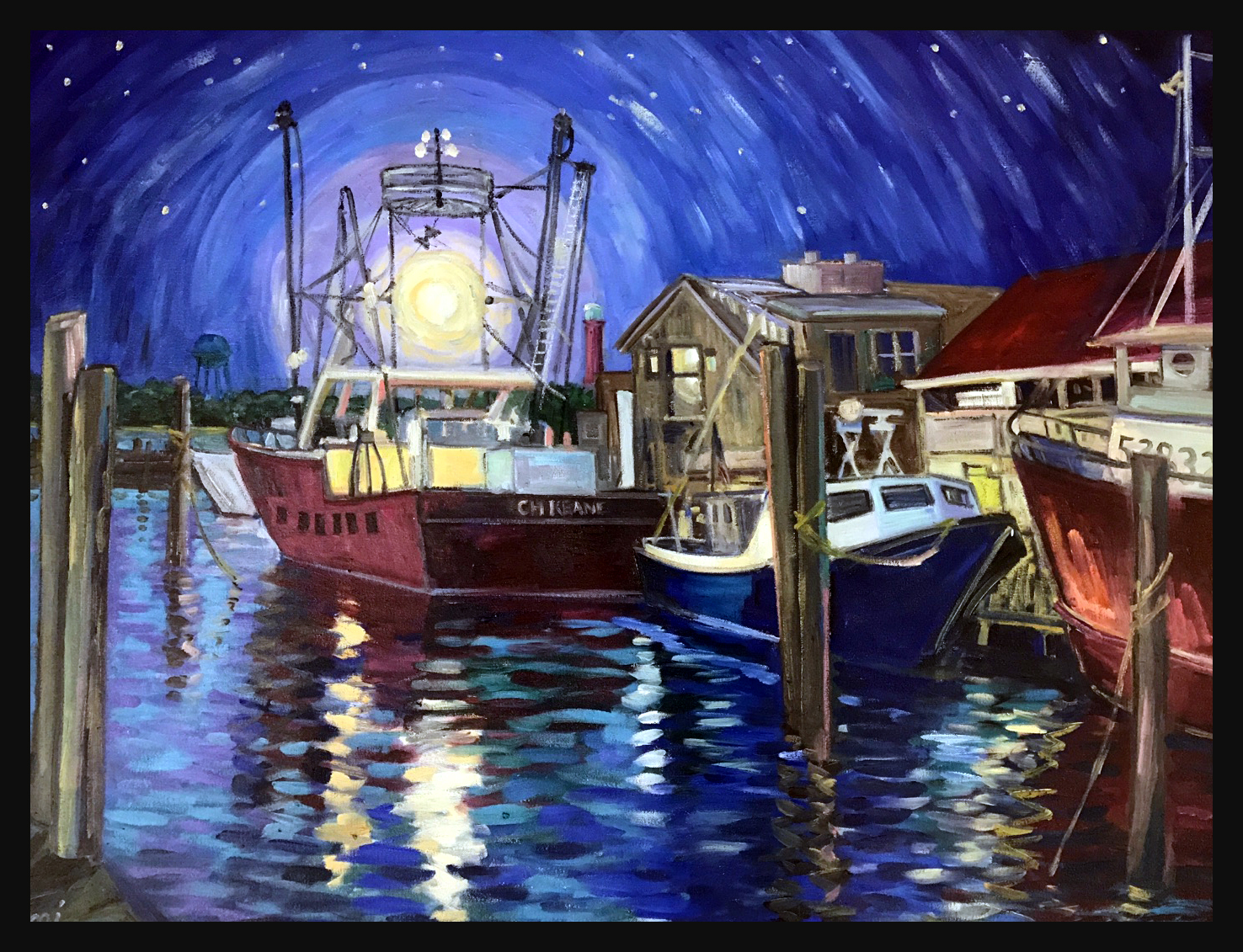 "Night Lights  40"" X 30"""