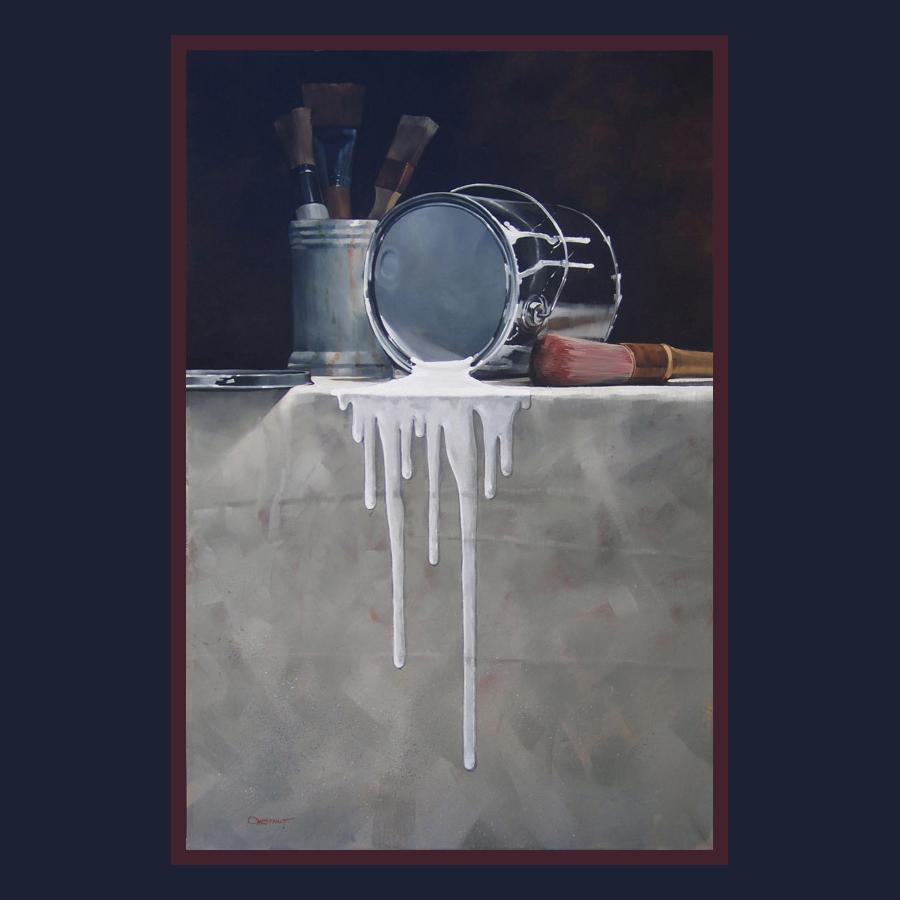 Paint Can Spill 36x24