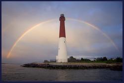 Rainbow Over the Lighthouse