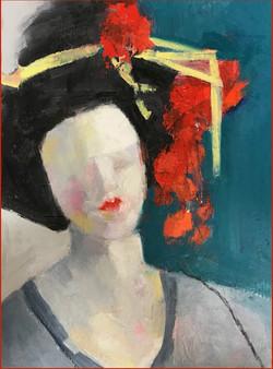 Geisha with the red earring - Doris Peltzman