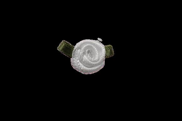 White 15mm Satin Rose