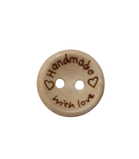 15mm 'Handmade with Love' Buttons