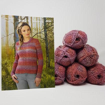 """Sweater Knitting Kit in James C Brett Landscape DK in Sizes 28-46"""""""