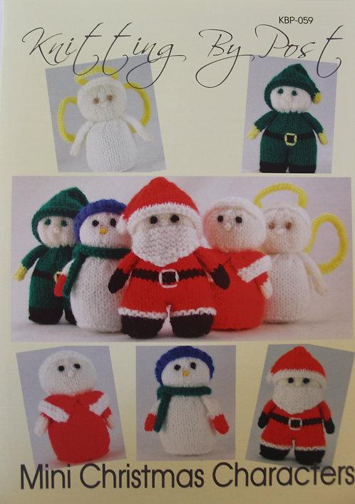 Mini Christmas Characters Knitting By Post Pattern KBP-059