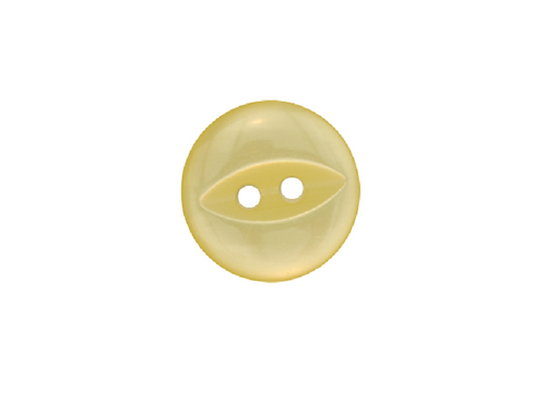 14mm Yellow Fish Eye Button