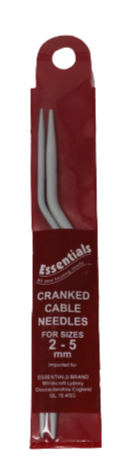 Essentials  Cranked Cable Needles For Sizes  2-5mm