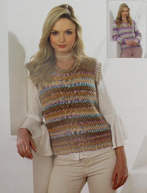 JB400 Sweater & Slipover in James C Brett Harmony DK