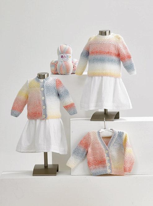 JB619 James C Brett DK Cardigans & Sweaters 3 designs