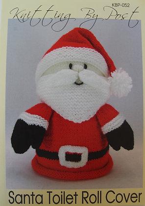 Santa Toilet Roll Cover Knitting Pattern KBP-052