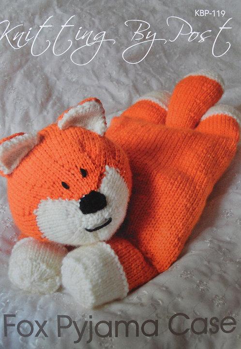 Fox Pyjama Case Knitting By Post Pattern KBP-119