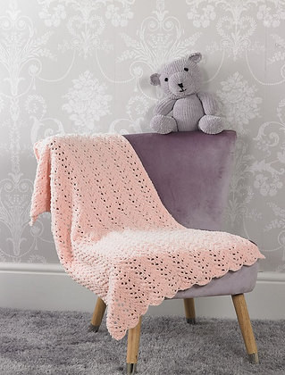 JB526 Teddy & Blanket in James C Brett Flutterby Chunky