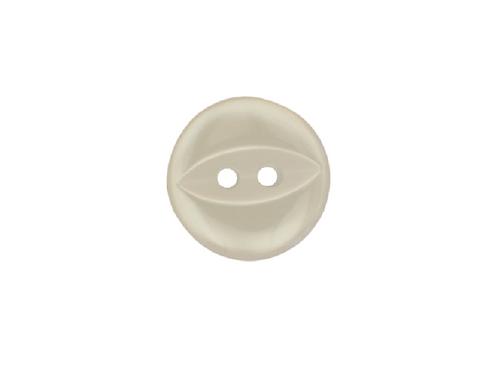 14mm White Fish Eye Button