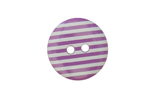18mm Purple & White Stripe Button