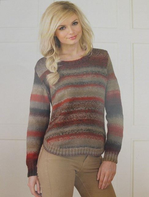 JB162 Sweater in James C Brett Marble DK
