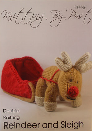Reindeer and Sleigh Knitting Pattern KBP-106