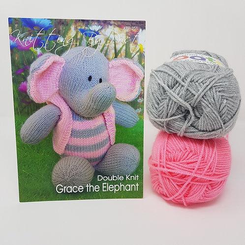 Grace the Elephant Knitting Kit