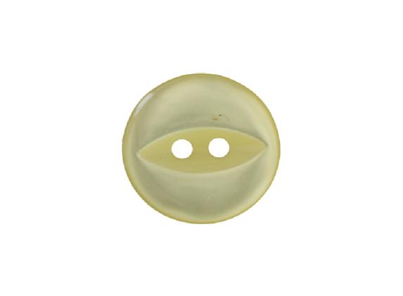 16mm Yellow Fish Eye Button