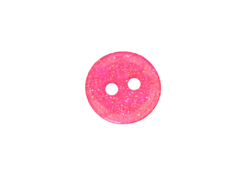 13mm Pink Glitter Button