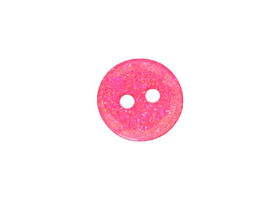 13mm Pink Glitter Button