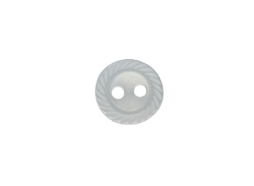 11mm Blue Crimped Edge Button