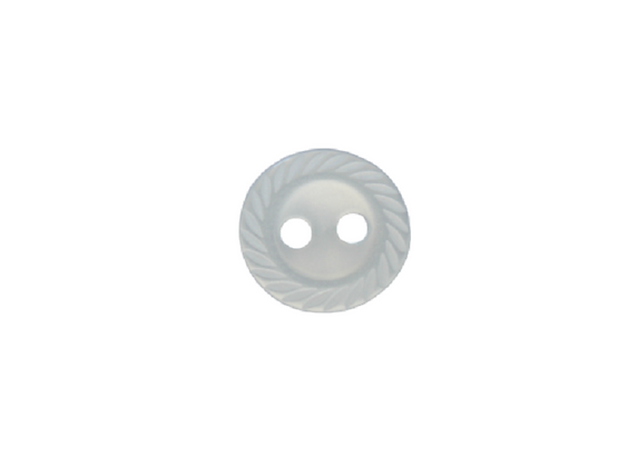 11mm Blue Crimped Edge Button