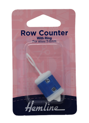 Hemline Row Counter with Ring for Sizes 2-6mm
