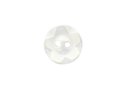 14mm White Fruit Gum Button