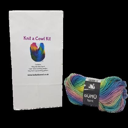 Cowl Knitting Kit in Boho Spirit Harmony