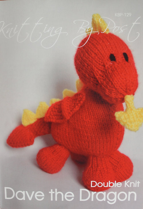 Knitting By Post Knitting Pattern - Dave the Dragon KBP-129