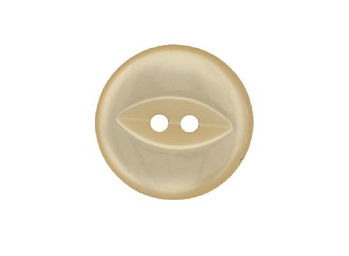 19mm Cream Fish Eye Button