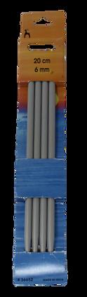 Pony 20cm Double Point Needles 6mm
