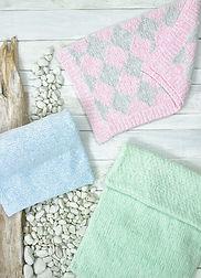 Knitting Pattern JB695 Baby Blankts