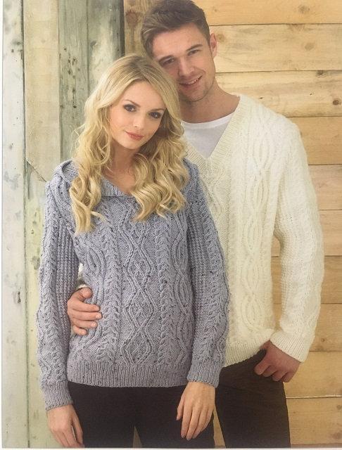 JB214 Aran Sweaters in James C Brett Rustic Aran