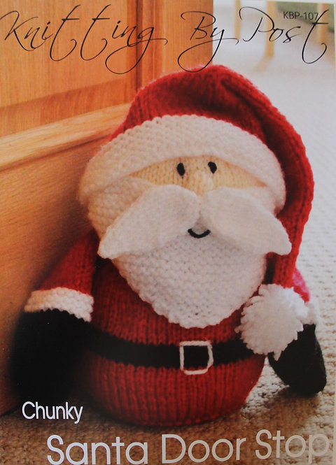 Santa Door Stop Knitting By Post Pattern KBP-107