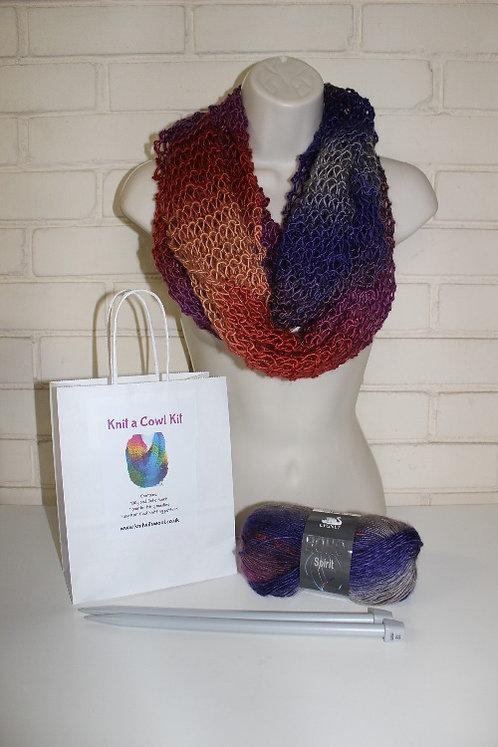 Cowl Knitting Kit in Boho Spirit Cosmic