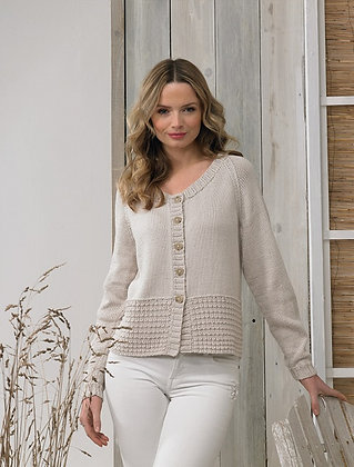 JB597 Sweater & Cardigan in James C Brett It's Pure Cotton DK
