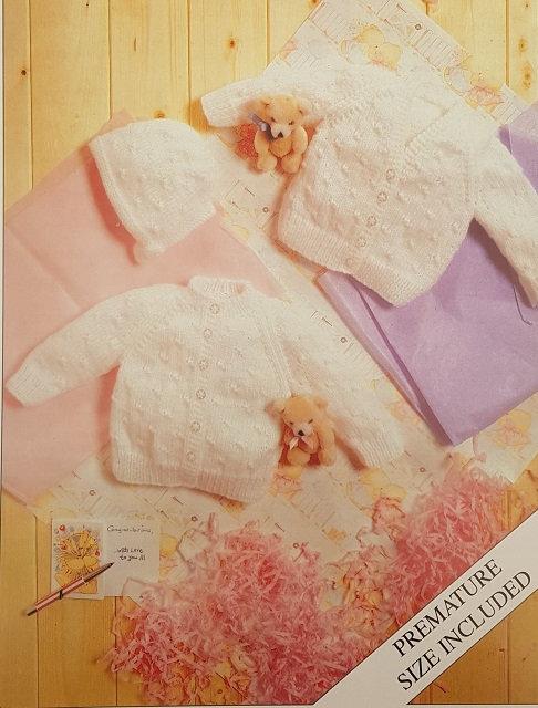 7120 Teddy Cardigans & Bonnet in DK
