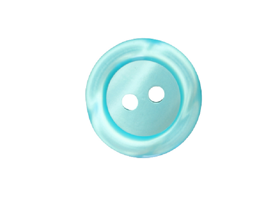 18mm Green Rim Button
