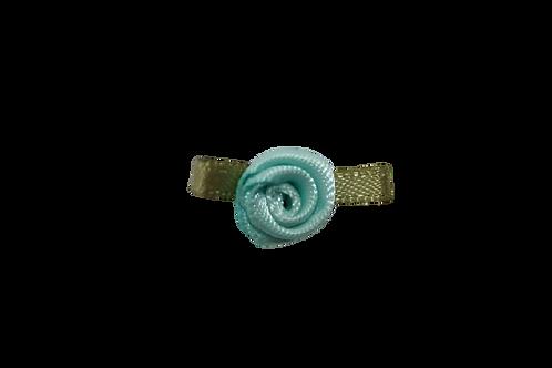 Turquoise 15mm Satin Rose