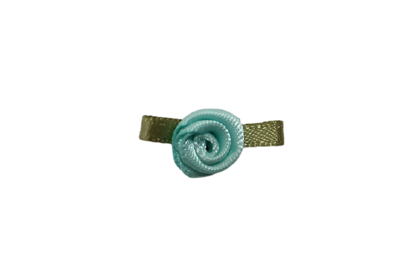 Turquoise 15mm Satin Rose