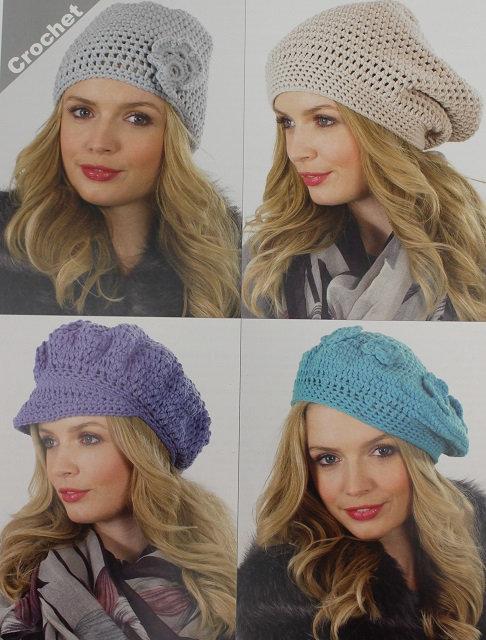 JB328 Crochet Hats in James C Brett Chunky