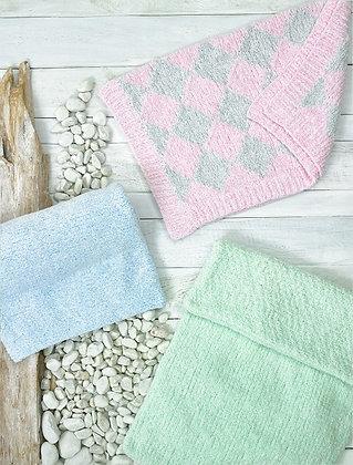 JB695 Blankets in James C Brett Baby Velvet Chunky