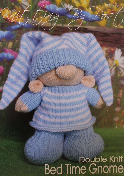 Bed Time Gnome Knitting By Post Pattern KBP-273